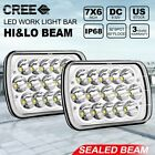Rectangle 5x7 7x6 Led Headlights Hi/Low Sealed Beam For Jeep Wrangler YJ Toyota