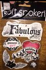 Ideas Soft Spoken Fabulous Title Tattoo Scroll Art Scrapbook Stickers