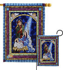 Stained Glass Nativity Impressions Decorative Flag Collection HG114123