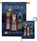 Child Is Born Nativity 3 Kings Jesus Religion Novl Garden House Yard Flag