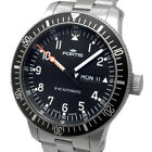 Auth Fortis Cosmo Note B-42 Day Date Black Dial Automatic 647.10.11 Kir_10003047