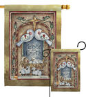 Peace on Earth Doves  Nativity Impressions Decorative Flag Collection HG114125
