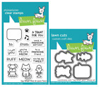 Lawn Fawn Clear Stamp and Die Set Say What Pets LF1962  LF1963
