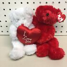 """Ty Babies Beanie Babies Conjoined Bears """"I Love You"""" Truly Yours"""