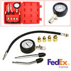 Car Motorcycle Petrol Engine Cylinder Compression Tester Tool Kits US Shipping