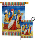 Three Wise Men Nativity Gospel Matthew Christian Jesus Garden House Yard Flag
