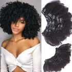 4B 4C Afro Kinky Curly Clip in Virgin Human Hair Extensions 120g+ Full Head Weft