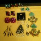 10 Pc Vintage Modern Jewelry Lot of Artistic Interesting Unique Earrings
