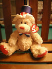 TY ORIGINAL BEANIE BABY BEAR INDEPENDENCE  9 INCH 2006  RED WHITE BLUE