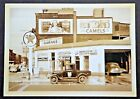 Postcard of a Gas Station, Car Wash with Great Advertising Coca-Cola, Texaco +