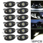 LED Rock Lights for Boat Off Road Truck ATV SUV JEEP JK TJ RZR Car White 12PCS