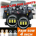 2X 4 LED Round Fog Light Lamp For Chrysler 300 PT Jeep Dodge Journey Magnum