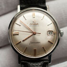 Vintage Omega Seamaster Automatic Date Mens Watch c 1960s Stainless 34mm RUNS