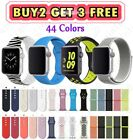 Silicone Nylon Sport Band Strap for Apple Watch Series 5 4 3 2 1 38 40mm 42 44mm