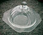 Vintage Indiana Glass Round Covered Butter Dish Cheese Plate Recollection