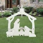 Outdoor Self Standing Silhouette Style Nativity Christmas Decoration