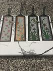Stampin Up Painted Glass Bookmarks Flowers Butterflies Nature