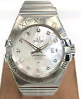 Omega Constellation Co Axial 12310312055001 Damenuhr Automatik Stahlmodell