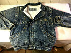 ROGLINS BLUE JEAN JEWEL EMBELLISHED BIKER JACKET 47Chest 31Sleeve 26Long WOW