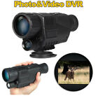 BOBLOV 5x40 Zoom Night Vision Monocular Infrared IR 2M 200M Viewing Range DVR