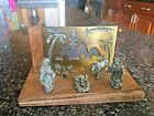 Antique Jesus Nativity Scene in Brazilian Rosewood Made in Italy