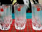 RCR ADAGIO SET/6 Straight Line Design Italian Crystal Highball Glasses    NEW