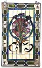 Tulip Design Tiffany Style Stained Glass Window Panel LAST ONE THIS PRICE