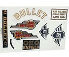 Royal Enfield Complete Body Rear Fairing Sticker Decal Set For Bullet 350cc CAD
