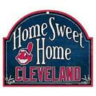 Cleveland Indians Arched Home Sweet Home Wood Sign NEW MLB Plaque Banner Cave