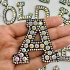 A Z Letter Rhinestone Patch Iron on Patches Garment Applique Clothing Stickers