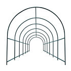 Large Size Steel Garden Arch Rose Arbor Climbing Plant Grape Support Frame Yard