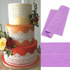 3D Silicone Lace Flower Cake Border Decor Fondant Chocolate Mold Bake Mat Hot QP