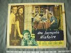 VINTAGE ORIGINAL MOVIE LOBBY CARD UNE INCROYABLE HISTOIRE QUEBEC FRENCH 1949