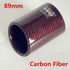 89mm Universal Car Exhaust Pipe Carbon Fiber Cover Exhaust Muffler Pipe Tip Case