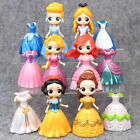 6 Disney Princess w 12x Magiclip DIY Changed Dress Figures Toy Gift Snow White