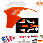 Red&White Motocycle Fender Side Cover Fairing Kit For KTM 250 SX/SXF/XC 13-14