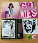 GRIMES VISIONS Plus 2 LTD ED 4AD Remix CDs pins sticker MINT OOP Angel Ambrosia