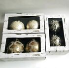 Lot of 6 Southern Living Christmas Ornaments Gold Silver Unique Boxed NEW