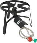 Propane Gas Outdoor Cooker 1burner High Pressure Regulator Heavy Duty 60000 BTU