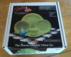NIB HOMER LAUGHLIN FIESTA WARE CHARTREUSE F117 SIX PIECE SET