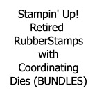 Stampin Up Retired Rubber Stamps and Matching Dies