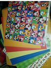 Scrapbook paper 12x12 DISNEY MICKEY and FRIENDS 7 Pgs Mixed Lot