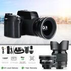 D7100 33MP 1080P Digital Camera w/0.5X Wide-angle Lens16-24X Zoom Telephoto Lens