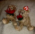 2 TY Beanie Baby 2005 HOLIDAY TEDDY the Bear Original Owner of This Bear NEW