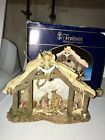 Fontanini 25 Scale Musical Nativity Creche Stable Set 50038 Oh Holy Night MIB