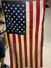 New 3 x 5 American Antiqued Cotton Flag Made in USA High Quality Quick SHIP