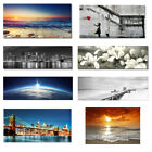 Canvas Print Painting Picture Home Decor Wall Art Photo Landscape Sea Blue Gray