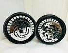 HARLEY GLOSS BLACK Road King GLIDE 28 SPK  WHEELS SET W/ROTORS 09-17OUTRIGHT)
