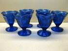Anchor Hocking Cobalt Blue Glass Fountainware Set of 6 Ice Cream Sundae Glasses