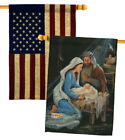 Nativity Decorative USA Vintage Applique House Flags Pack HP114090 BOAA